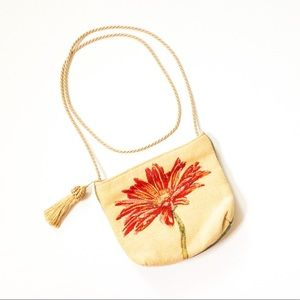 Flemish Tapestries Floral Embroidered Purse